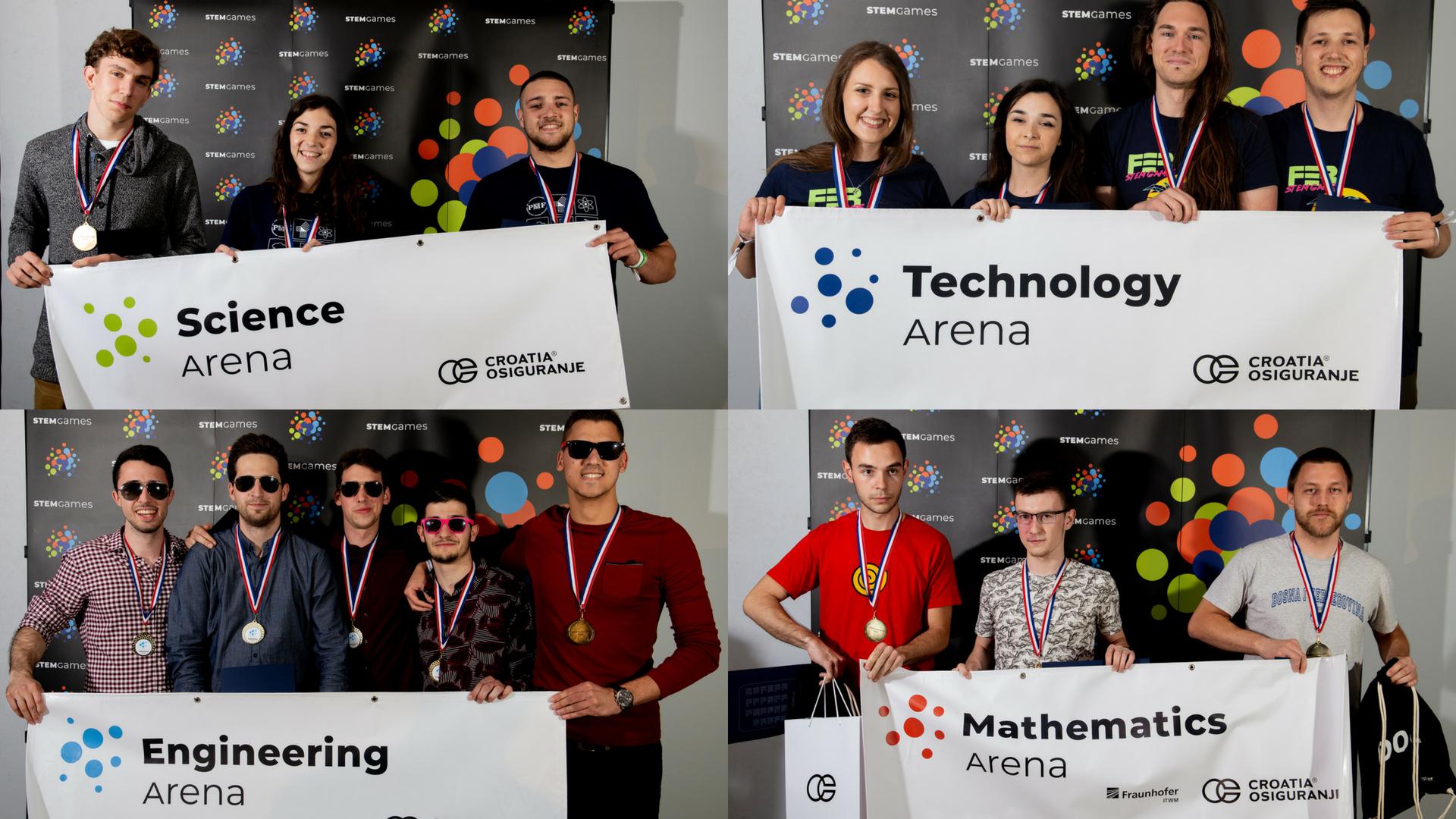 STEM Games Arene prva mjesta