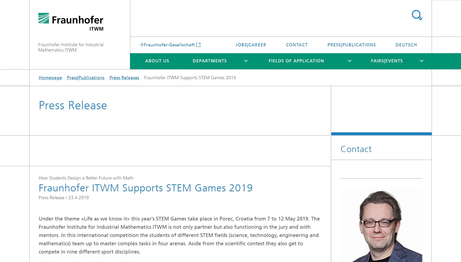 20190425 – STEM Games – frauenhofer prva objava