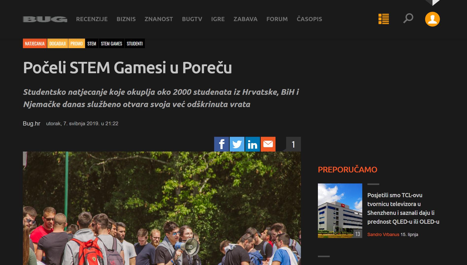 20190620 – STEM Games – Bug druga objava