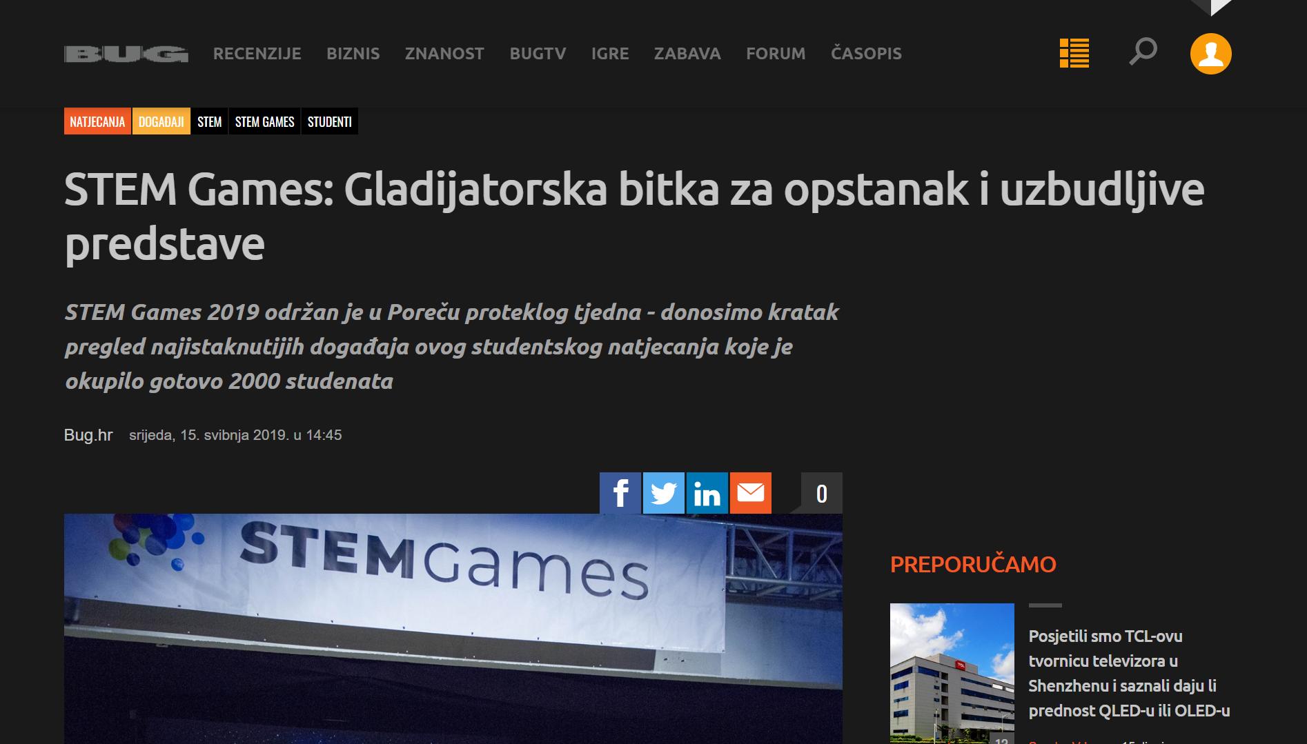 20190620 – STEM Games – Bug zadnja objava