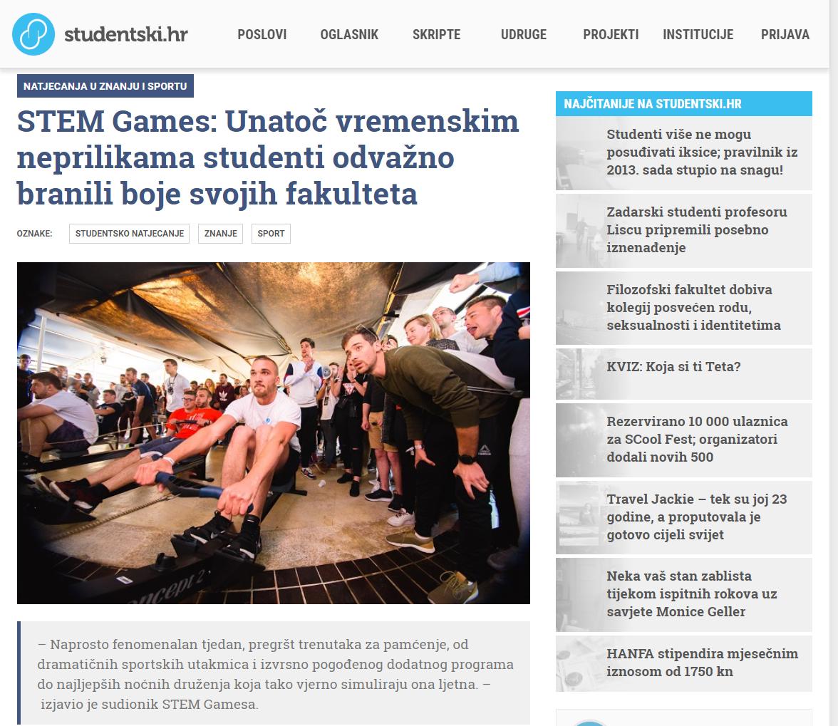 20190620 – STEM Games – Studentski.hr zadnja objava