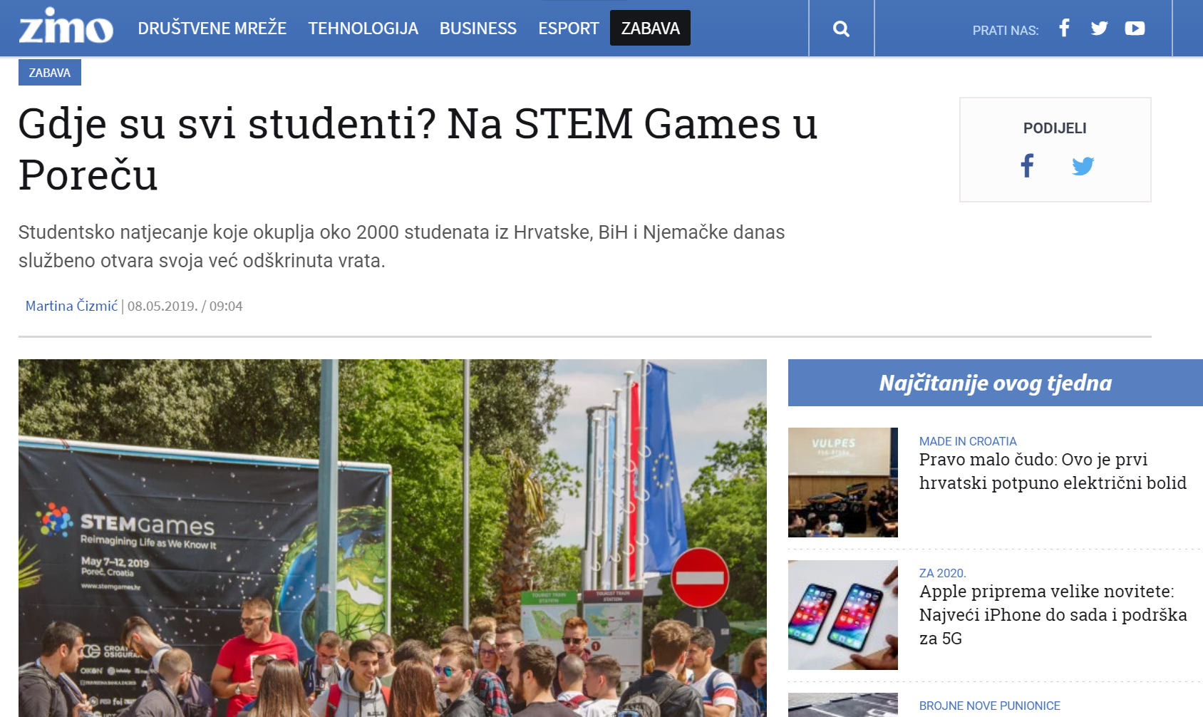 20190620 – STEM Games – Zimo druga objava
