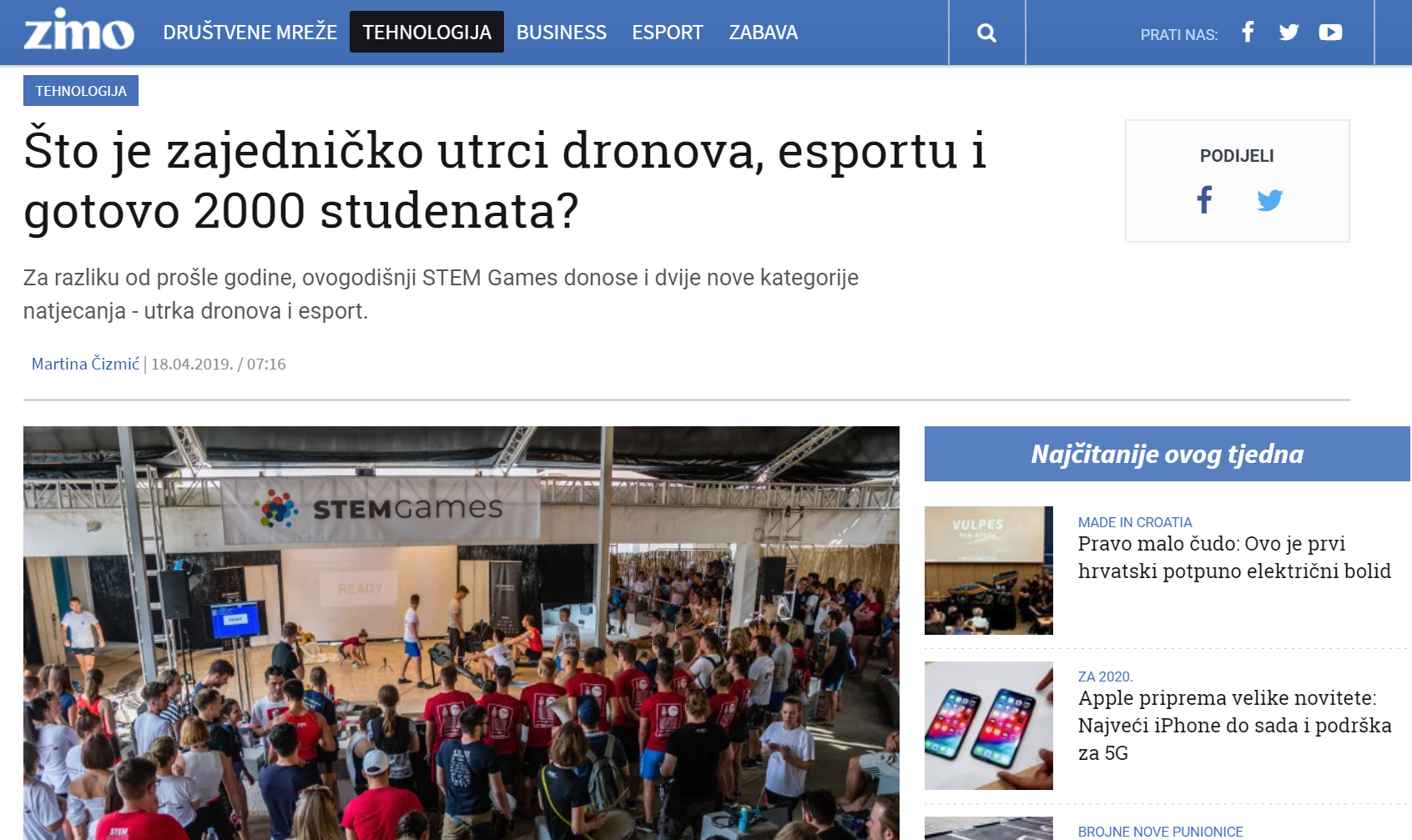20190620 – STEM Games – Zimo prva objava